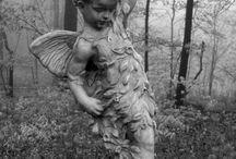 Romantische Statuen u. Skulpturen