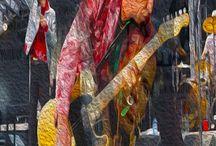 Keith Richards Rolling Stones Pop Art Canvas