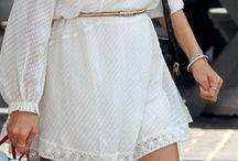 Como vestir el blanco en  verano♡♡♡♡♡