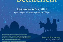 The Journey to Bethlehem  / Experience 1st century Bethlehem and the story of Jesus' birth at the annual Walnut Creek Journey to Bethlehem. Seven scenes will be hosted and acted out around the village. The evening ends with an inspiring Live Nativity. Both walking and driving are required. Returning visitors, please note that the locations will be slightly changed from last year. The Event and Refreshments are absolutely FREE. Come, Experience the true meaning of Christmas.