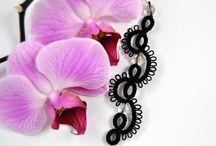 frywolitka tatting biżuteria jewelry / Biżuteria wykonana metodą frywolitkową.