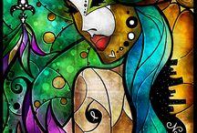 abstract vitray