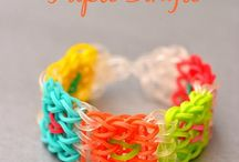Rainbow Loom / Fun with rubber bands