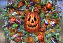 Halloween Wreaths ~ Door Swags