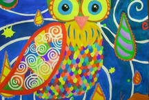 Owl Painting for Maebh's room / by Hepzaba Mae