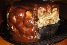 торт медовик шарики