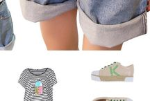 Outfits for jean shorts