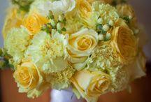 Svatební kytice-žluté