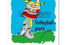 Volleyball Schilder / Unsere Schilder für Voleyball-Anlagen sind in verschiedenen Schilderserien erhältlich.