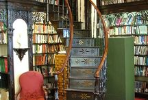 Bookcases/Staircases/Shelves / by Carol Kovacs