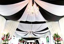 Wedding Theme Monochrome / A dramatic & bold theme with a fresh clean feel.  Monochrome looks so chic, let your guests and the food add the colour to your venue.
