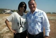 Aiysha Saagar with Mayor Tom Tate