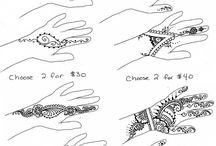 Henna minták kézre