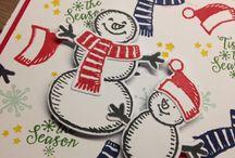 Mijn Stampin' Up kerstkaarten / Mijn Stampin' Up kerstkaarten