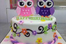 pasteles de buhos