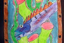 art underwater little fish fun / by Jane Hastings