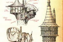 Графика архитектура фэнтези