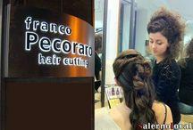 """Il Salone Franco Pecoraro hair cutting / Il nostro locale si configura come una vera e propria spa del capello per vivere un'esperienza di benessere e relax. Oltre ai servizi descritti, il salone dispone anche di un """"angolo tisaneria"""", dove le clienti, durante l'attesa o mentre sono sottoposte a un trattamento estetico, possono gustare una delle ottime tisane naturali messe a disposizione."""