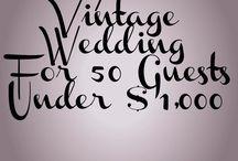 Vintage Weddings / Vintage wedding ideas, hints, & tips