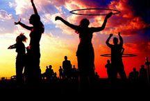 hoop / hula hooping, hoop dance, iso pop, cateyes, lifts, basket weave, cyclone  / by beth