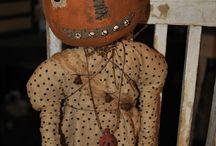 Dolls...Pumpkin Heads, Fall
