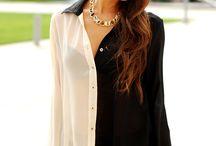blusas bicolores