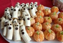 Healthy Halloween Recipes / Halloween doesn't have to be all about candy! Here are some fun and healthy recipes to incorporate for and around the holiday. Enjoy!