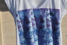 ACQUARELLIfashion  / Norwegian Watercolour artist adding art work on Tshirts. Why FRAME it when you can WEAR it?