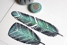 Feathers / Feather Art  Illustration and Photography