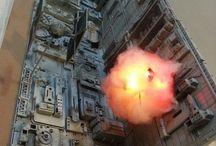 爆発のディオラマ表現の資料
