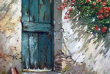 Art: Fence, doors, windows