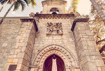 Spanish Monastery Wedding / Miami wedding venue, Spanish Monastery Wedding, Florida Wedding Venue, Pink Wedding gown, castle style venue, Jason Webster Photography, webster weddings