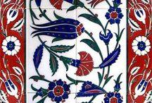 Çini çalışmaları - Turkish tile works