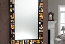 marcos de espejos en mosaico