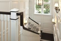 stairway hall decor / For that little nook by the stairs & stairways...