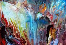 Abstract fluid painting