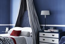 Britannia Collection / Our Britannia collection combines new designs and recoloured classics with a dark navy, red and neutral palette. The signature stripes, checks and plains, suitable for both upholstery and drape create a timeless yet contemporary style.