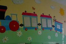 Декорирование стен.Дет.сад.