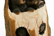 Drewniane rzeźby