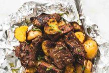 carne y papas especiadas al horno