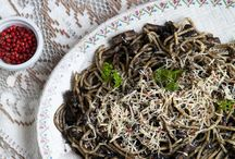 Black ink pasta