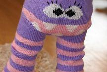 Strikka bukser