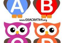 Abecedario / Alfabeto / Juegos y actividades de reconocimiento de alfabeto y letras de abecedario. Actividades divertidas y educativas de aprendizaje e imprimibles para enseñar el abecedario a los niños en el aula de preescolar, infantil y primaria ¡Visíteme en www.mundoderukkia.com para descubrir más recursos educativos!