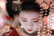 Asian art and kimono