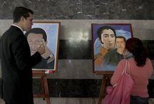 Unidad, Lucha, Batalla y Victoria, en honor al Comandante Chávez / El ministro del Despacho de la Presidencia, mayor general Wilmer Barrientos, inauguró la muestra pictórica que reúne el trabajo de 17 artistas plásticos y 22 obras pictóricas.