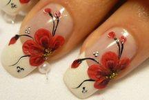 nails-red & black