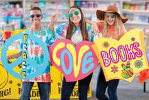 Scholastic Book Fairs: Feelin' Groovy Book Fair - MS / Send out positive reading vibes in 2016 with the Scholastic Book Fairs featured theme: Feelin' Groovy Book Fair: Peace, Love, BOOKS! / by Scholastic
