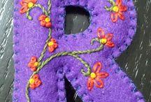 pendants felt embroidery handmade