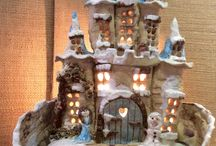Castles and houses / Pottery castles and fairy houses.
