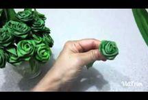 rose en feuillages et tressages